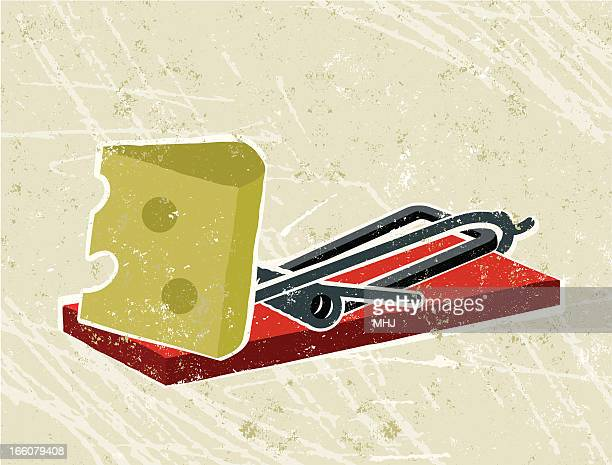 Cheese and mousetrap
