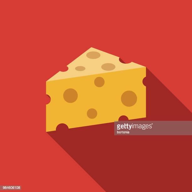 Käse-flachen Design-Landwirtschaft-Ikone