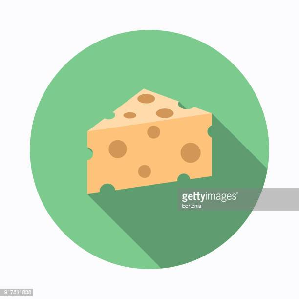 cheese flat design baking icon - cheddar cheese stock illustrations, clip art, cartoons, & icons