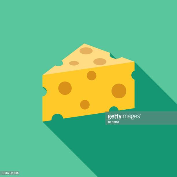 cheese flat design bbq icon with side shadow - cheese stock illustrations