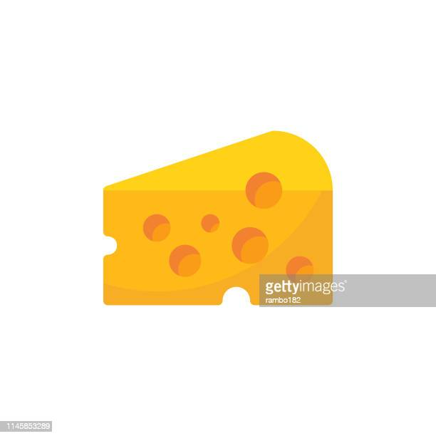 cheese flat icon. pixel perfect. for mobile and web. - cheese stock illustrations