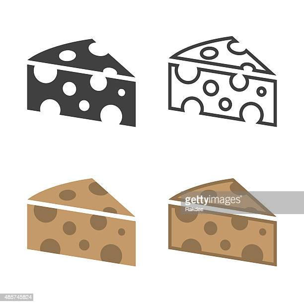 cheese icon - cheddar cheese stock illustrations, clip art, cartoons, & icons