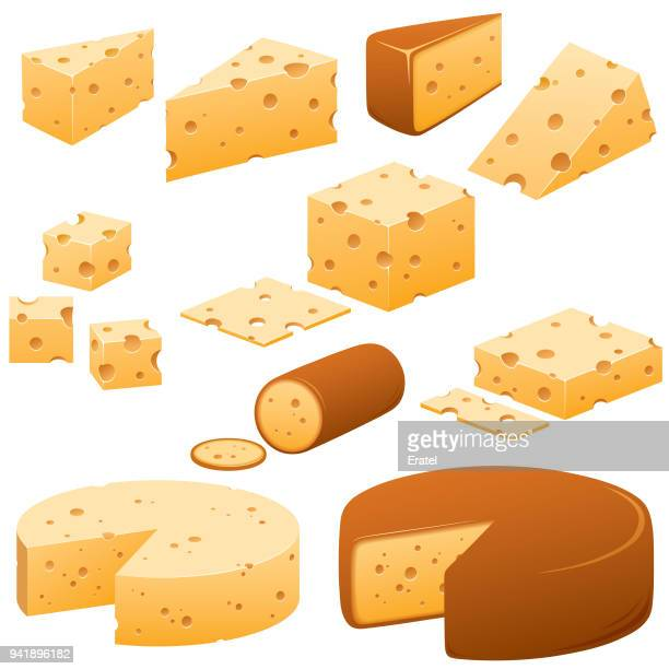cheese illustrations - cheddar cheese stock illustrations, clip art, cartoons, & icons