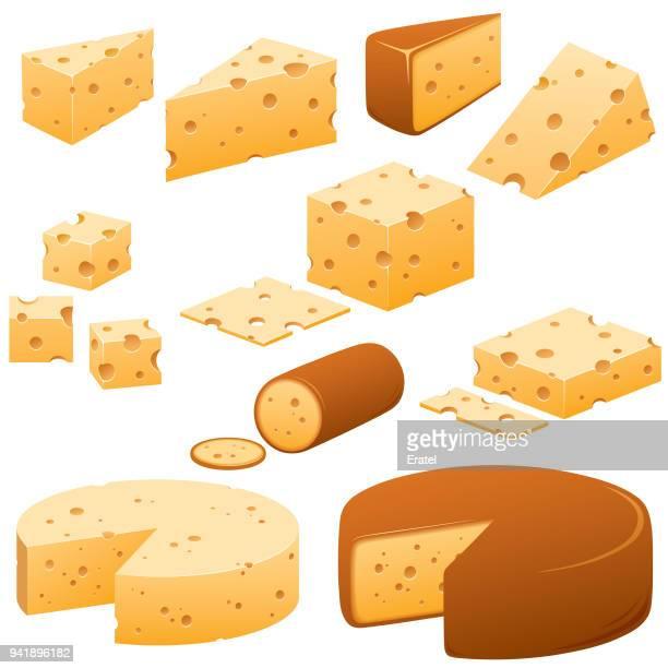Käse-Illustrationen