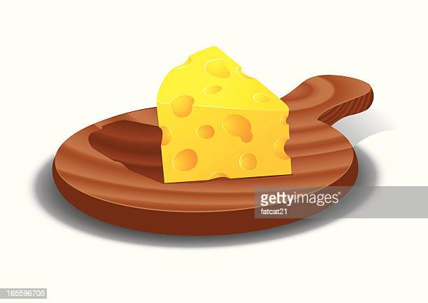 cheese on board - cheddar cheese stock illustrations, clip art, cartoons, & icons