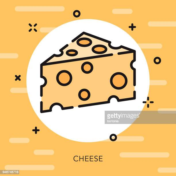cheese open outline fast food icon - cheddar cheese stock illustrations, clip art, cartoons, & icons