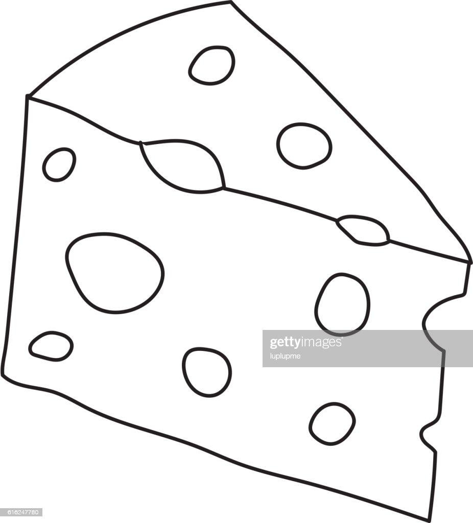 Käse-Scheiben, isoliert auf weißem Vektor : Vektorgrafik