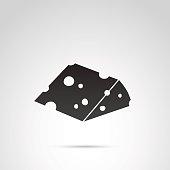 Cheese vector icon.