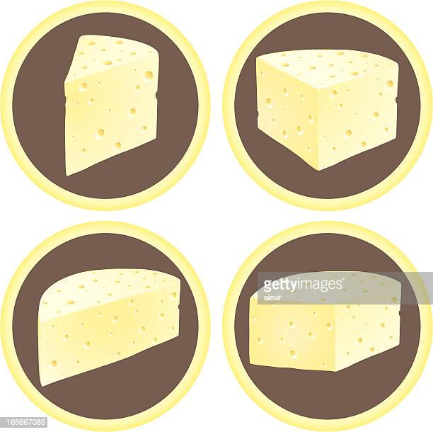 cheese wedges - serving size stock illustrations, clip art, cartoons, & icons