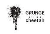 Cheetah In Grunge Style Silhouette Hand Drawn Animal