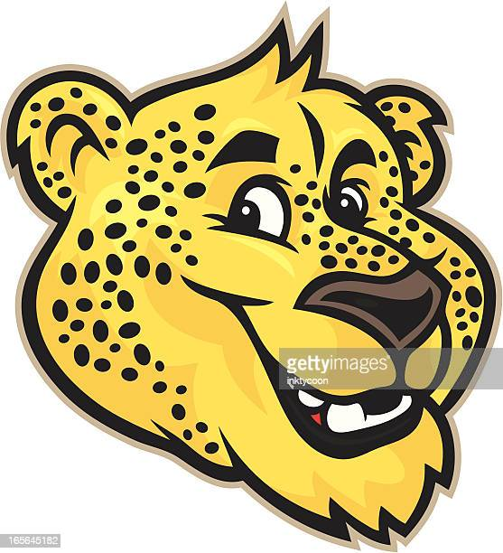 Cheetah / Jaguar Mascot Head
