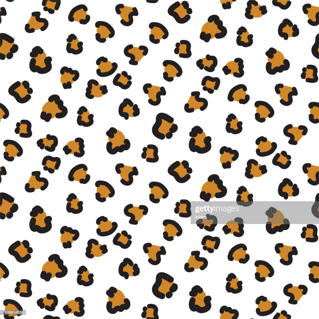 Cheetah seamless vector pattern