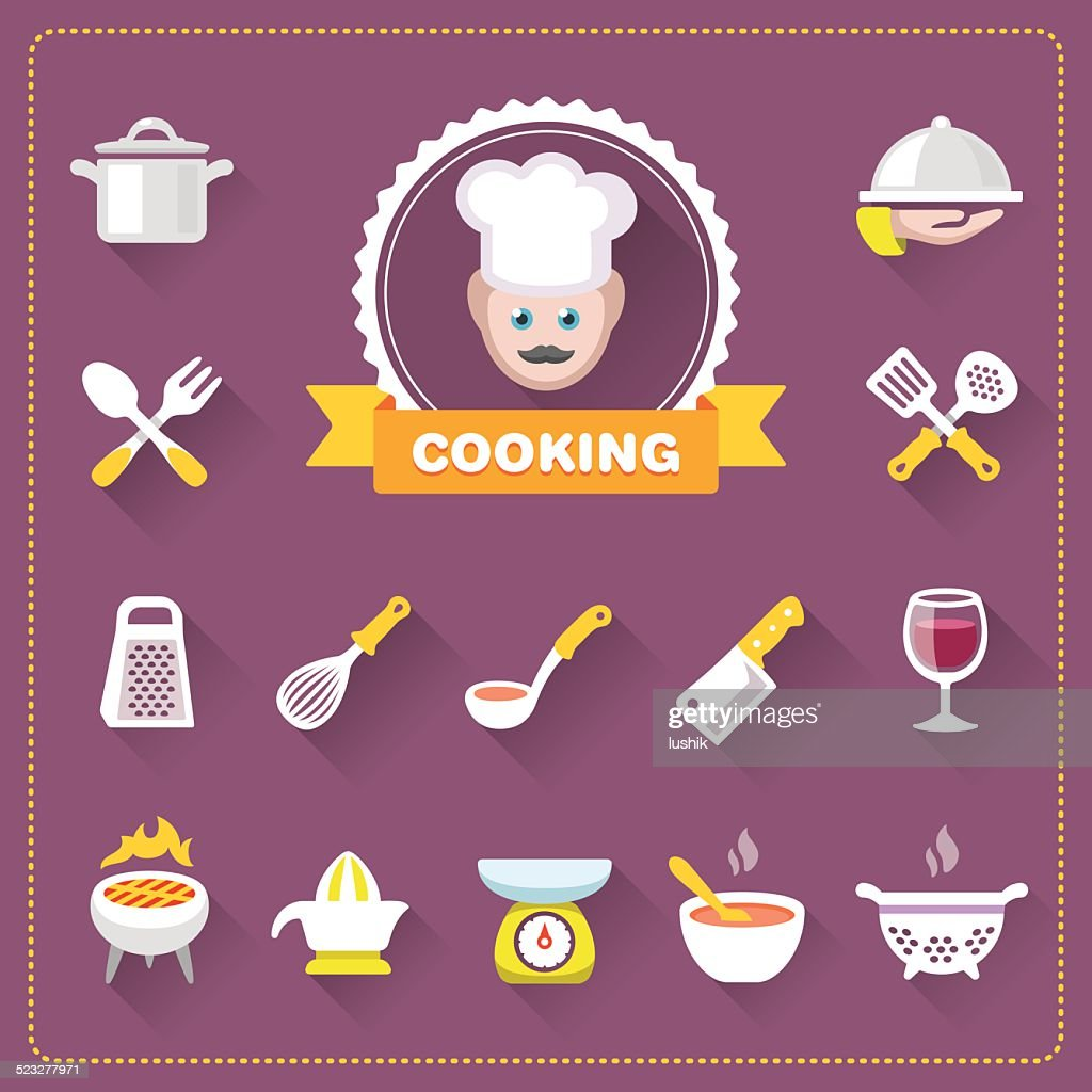 Chef and Cooking icon set
