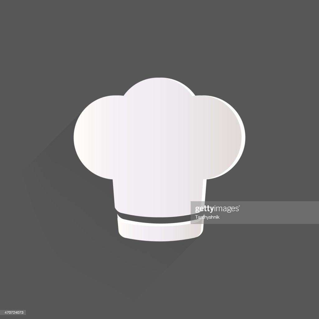 Chef cap icon. Cooking hat