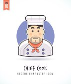 Chef cook man cartoon illustration