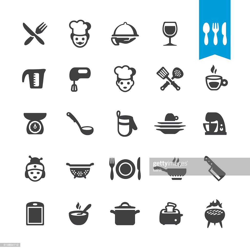 Chef Cooking vector icons : Stock Illustration