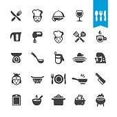 Chef Cooking vector icons