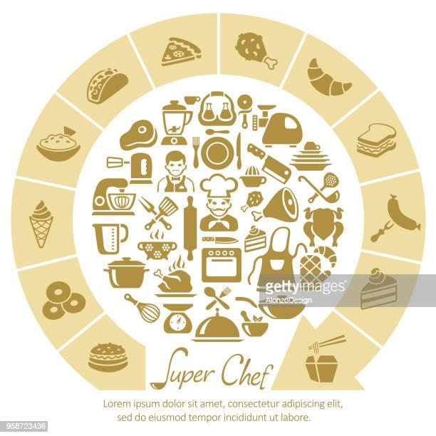 シェフの料理 - 高級グルメ点のイラスト素材/クリップアート素材/マンガ素材/アイコン素材