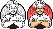 chef crossing arm pose