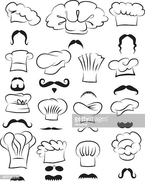ilustraciones, imágenes clip art, dibujos animados e iconos de stock de el chef caras - chef