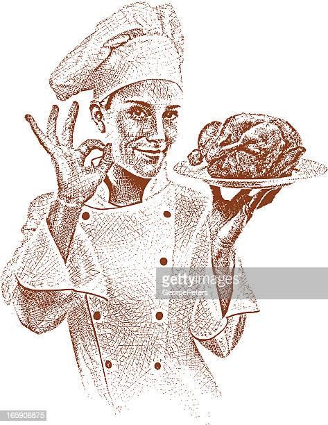 Chefkoch Gestikulieren OK