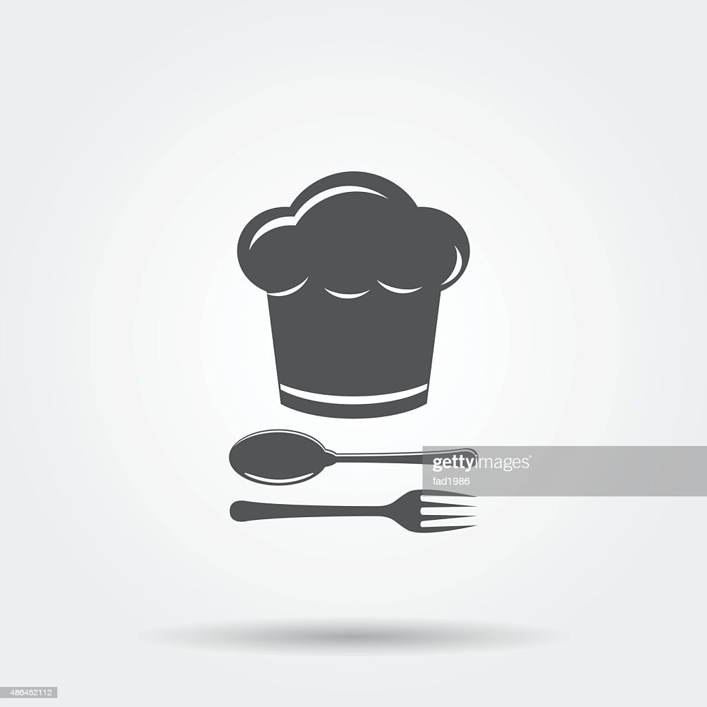 Chef hat with cutlery