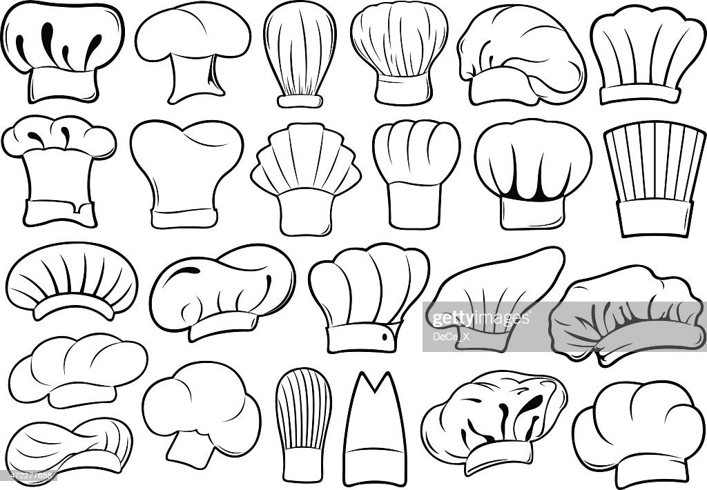 Chef hats isolated