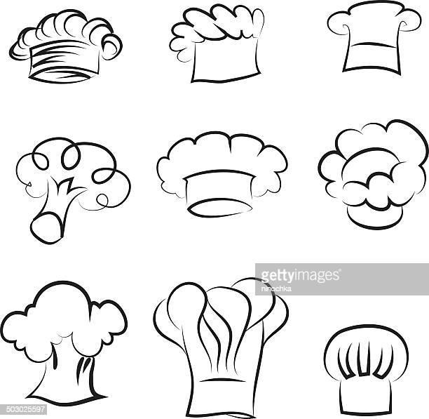 シェフの帽子 - コック帽点のイラスト素材/クリップアート素材/マンガ素材/アイコン素材