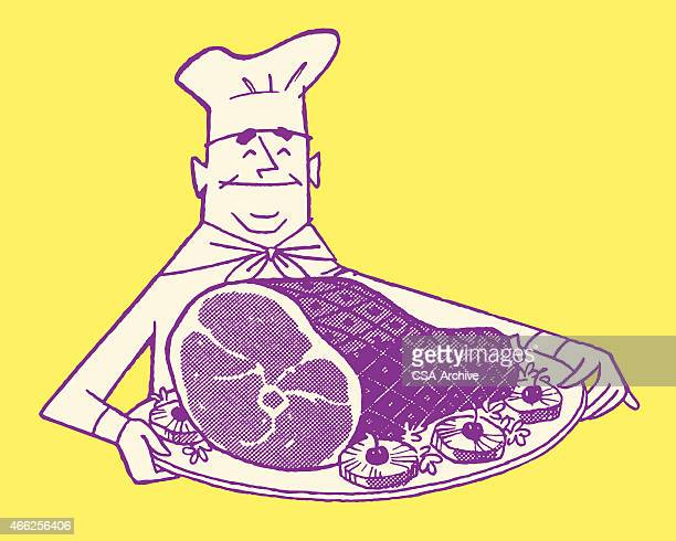 Chef Holding Ham