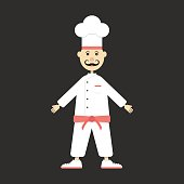 chef isolated on black background