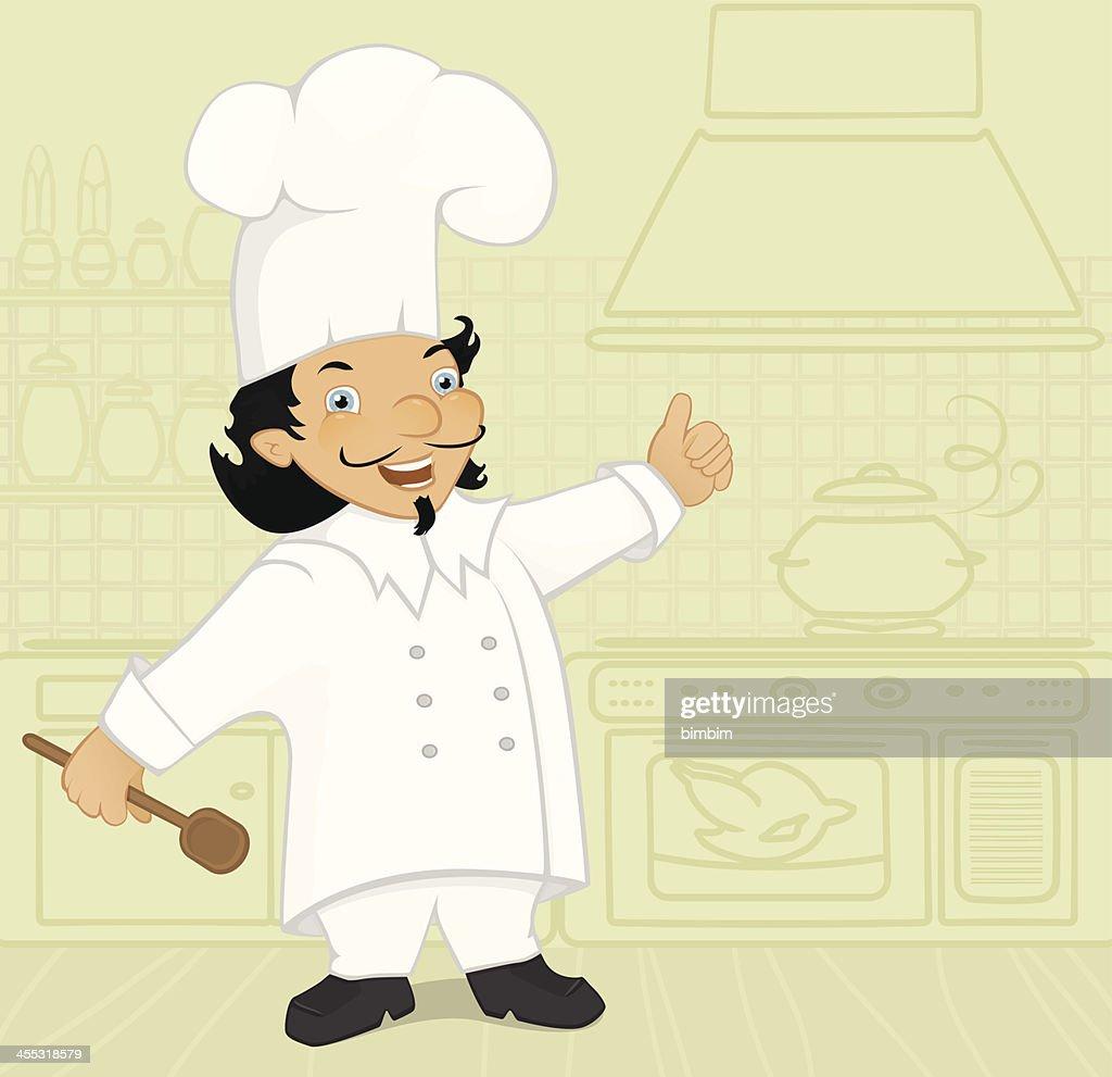 Chef preparing his specialty