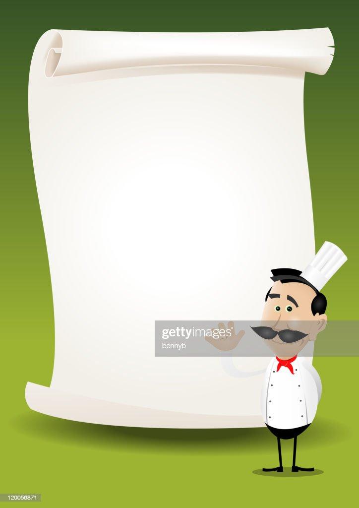 Chef Restaurant Poster Menu Background