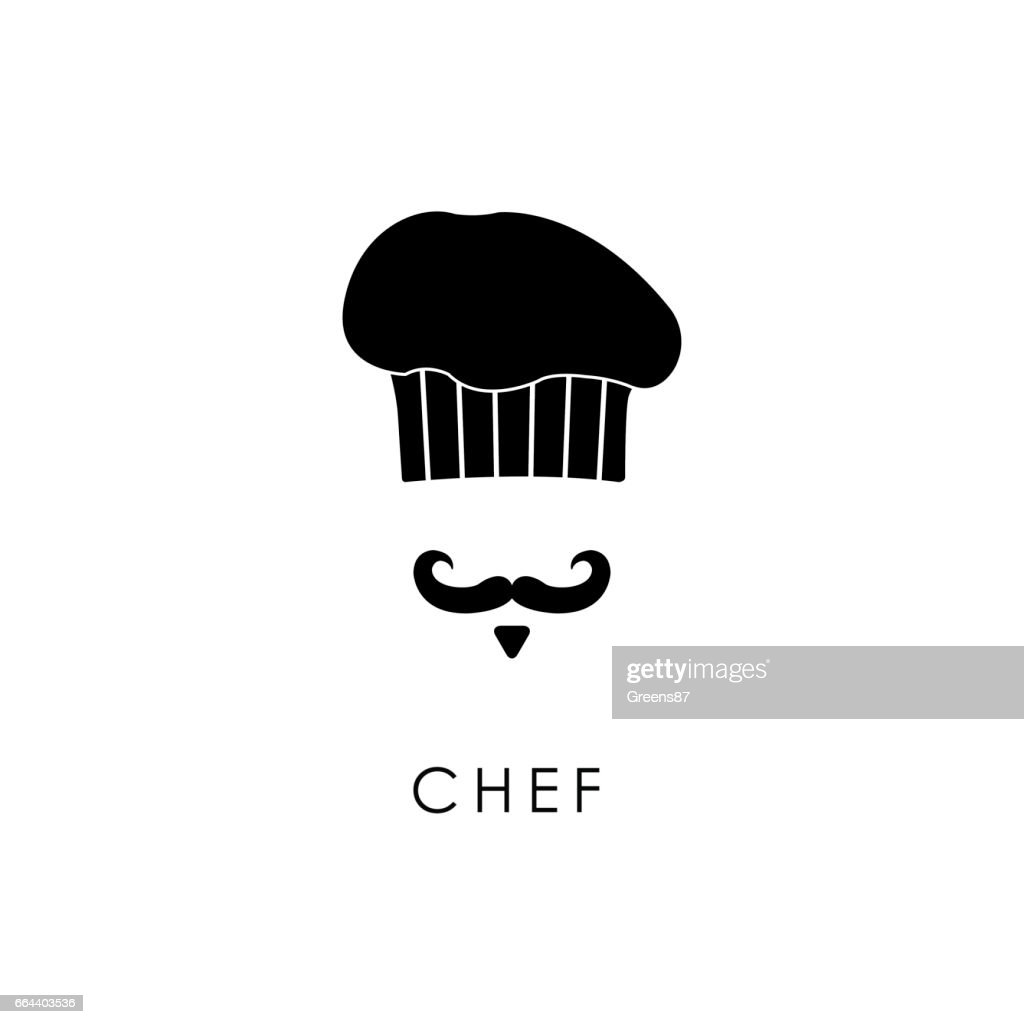Chef with mustache and hat.