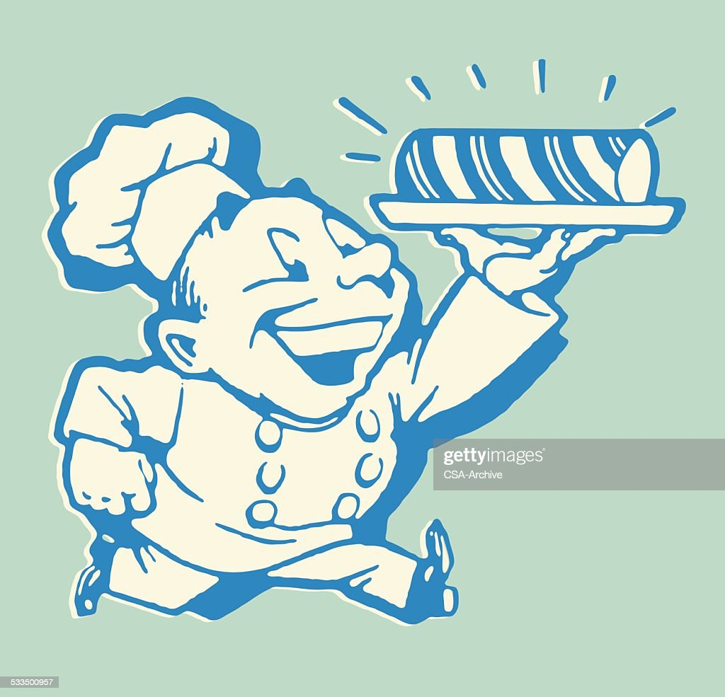 Chef with Rolled Treat