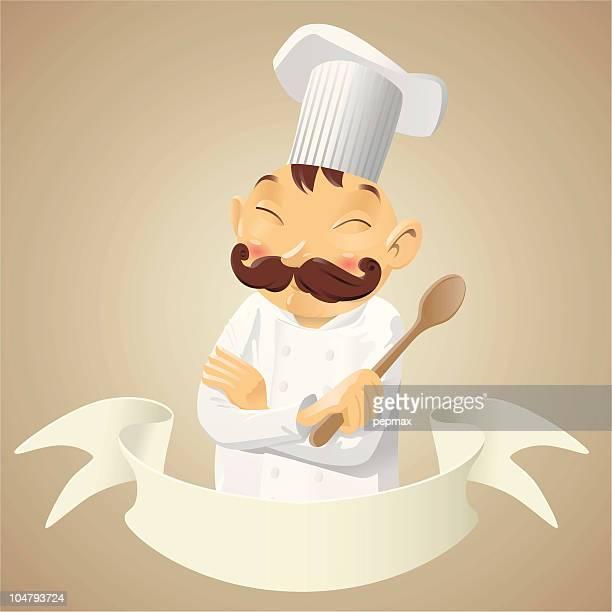 Chefkoch mit Kochlöffel