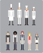 Chefs and Wait Staff (vector)