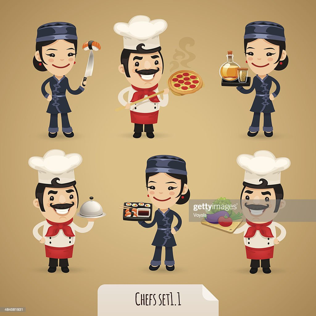 Chefs Cartoon Characters Set1.1