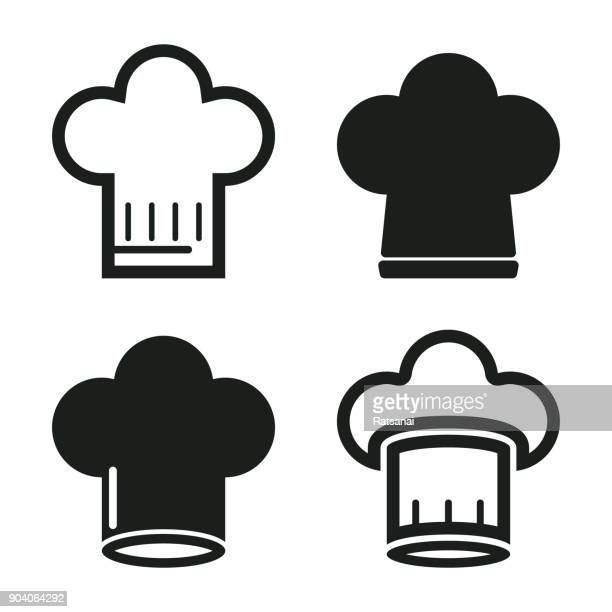 chef's has - chef's hat stock illustrations