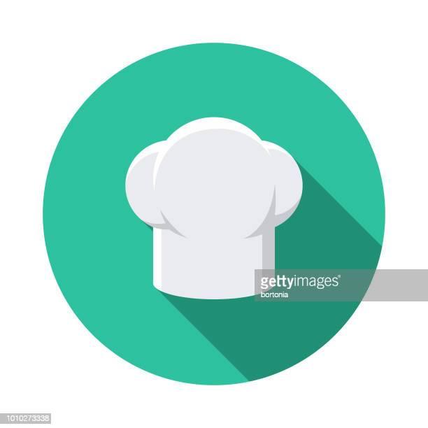 ilustrações, clipart, desenhos animados e ícones de chapéu design plano frança ícone do chef - chef de cozinha