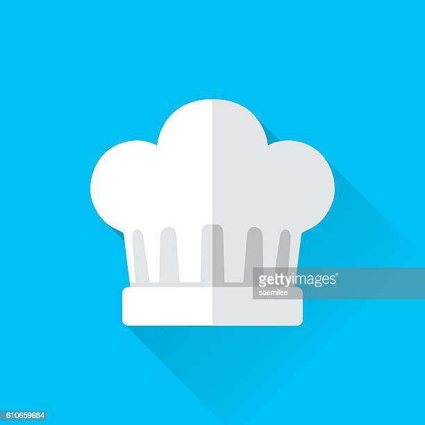 ilustrações, clipart, desenhos animados e ícones de chef's hat icon - chapéu de cozinheiro