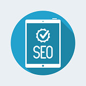 Chek for seo sevice on tablet