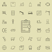 chek list icon. logistics icons universal set for web and mobile