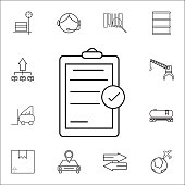 chek list icon. Set of Logistic icons. Premium quality graphic design. Signs, outline symbols collection, simple thin line icon for websites, web design, mobile app, info graphics icon