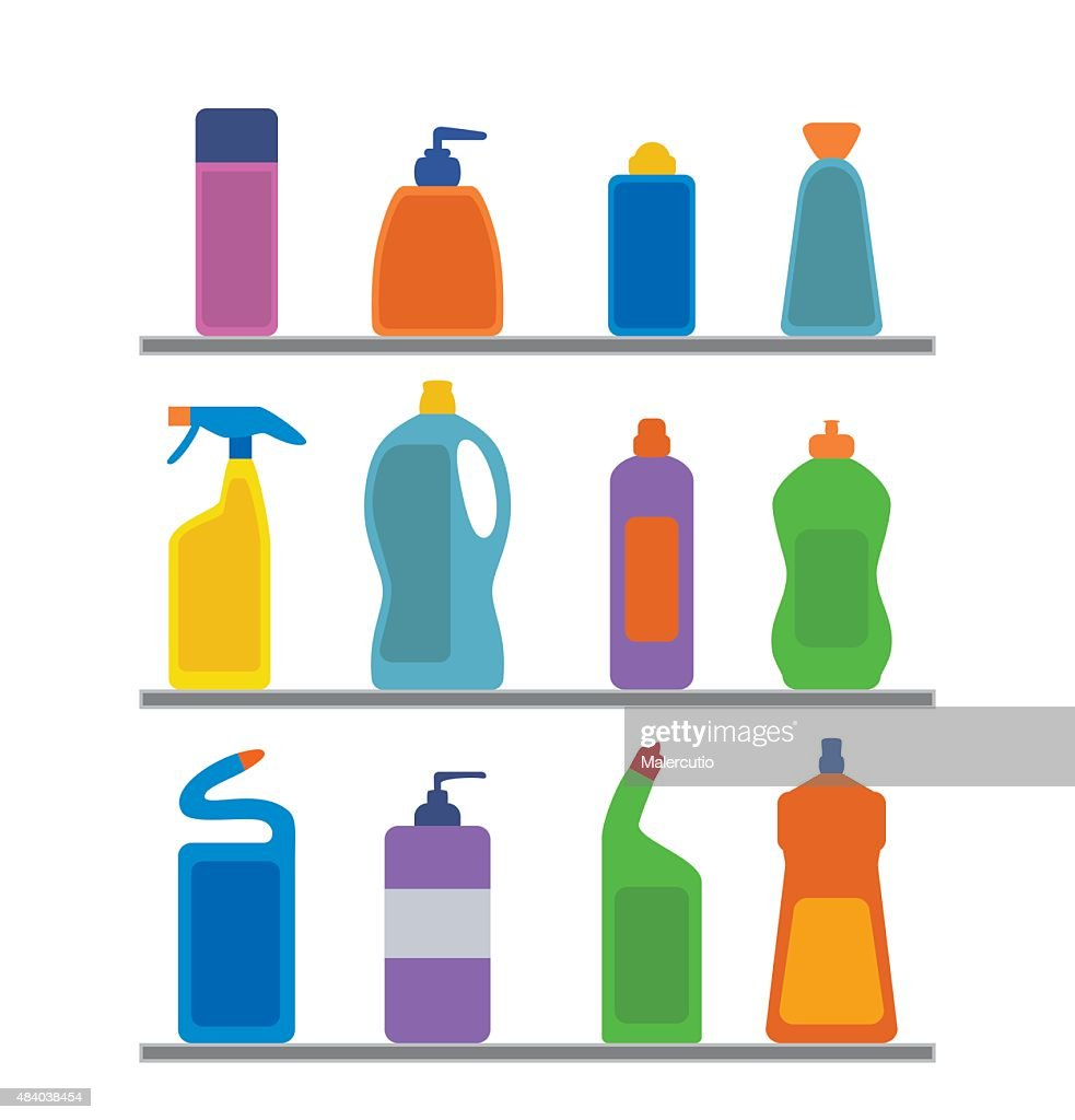Chemical cleaning supplies.