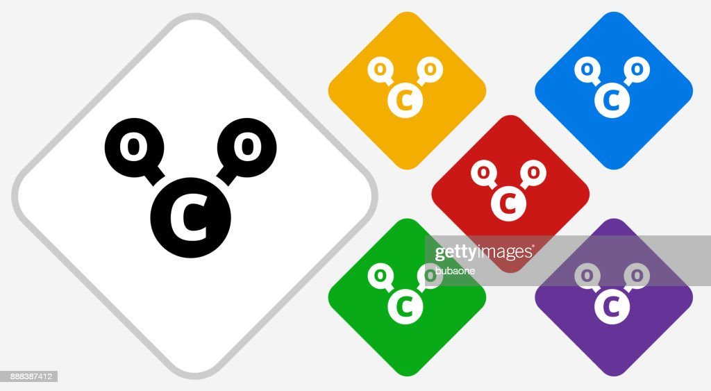 Co2 Chemical Color Diamond Vector Icon Vector Art Getty Images