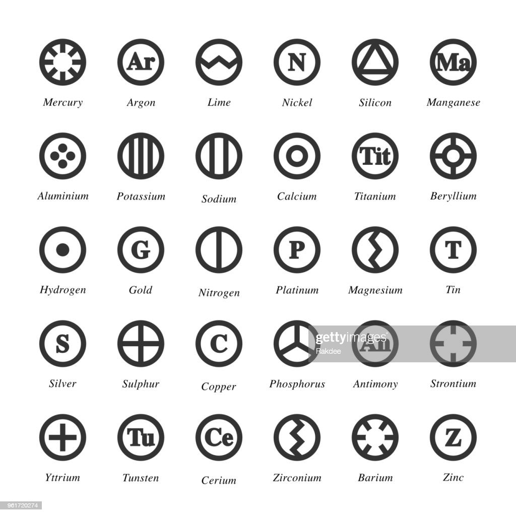 Chemical Element Icon - Gray Series