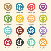 Chemical Element Icons Set 1 - Color Circle Series