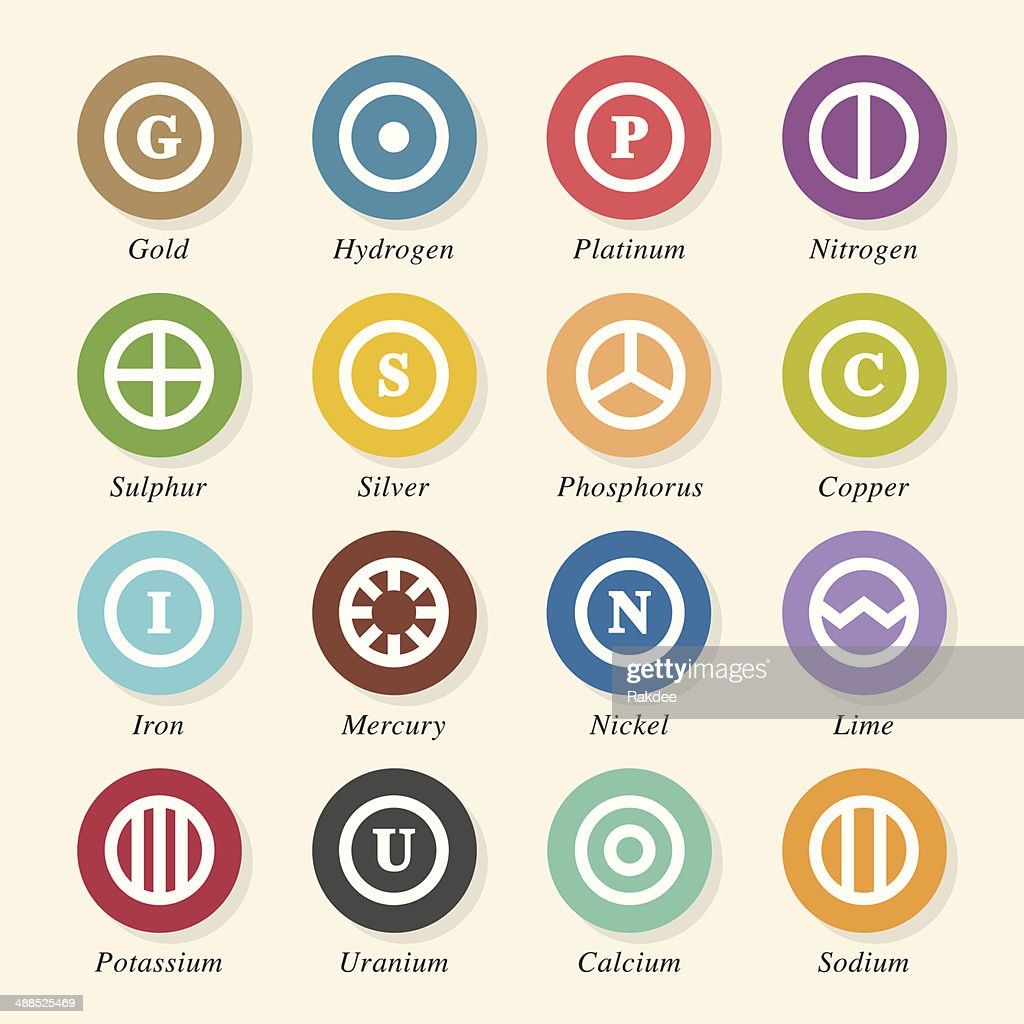 Chemical element icons set 2 color circle series vector art chemical element icons set 2 color circle series vector art buycottarizona