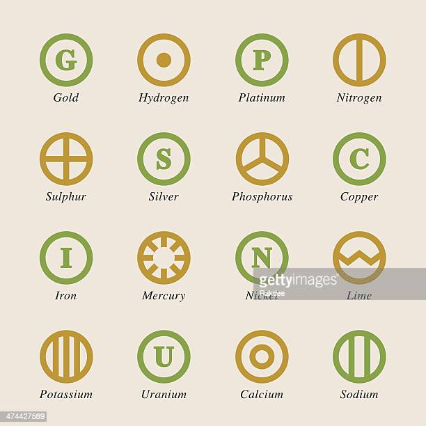Chemical Element Icons Set 2 - Color Series