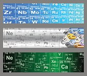 Chemical Elements Web Banners